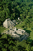 Maya city Tower of the king s palace. Main temple (kings memorial). Palenque. Chiapas. Mexico.