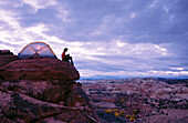 Camping on Slick Rock. Grand Staircase-Escalante NM. Utah. USA