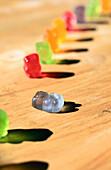 Gummy bears in line