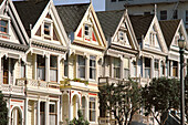 Victorian Houses. Alamo Square. San Francisco. California. USA