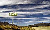 desert diner sign, California