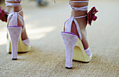 Adult, Adults, Anonymous, Color, Colour, Contemporary, Feet, Female, Feminine, Foot, Heels, High heel, High heels, High-heeled, Horizontal, Human, Indoor, Indoors, Inside, Interior, One, One person, People, Person, Persons, Pink, Single, Single person, W