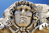 Medusa s head. Didyma. Turkey