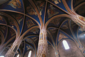 Frescoes on the vaults of Saint Michael s church. Verdun-sur-Garonne. France