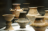 Vessels dating 8th century B.C. at archeological museum of Matelica. Marche, Italy