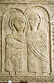 Detail of relief in the cathedral museum. Cividale del Friuli. Friuli-Venezia Giulia, Italy
