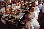 Mahgandhayon monastery. Novices lunch. Amarapura. Myanmar.