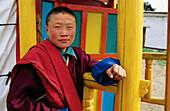 Monk at Tsetserleg Yourte Monastery. Arkhangai. Mongolia