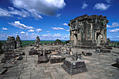 Ruins of Phnom Bakheng temple. Angkor. Cambodia