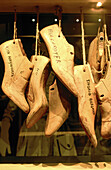 Salvatore Ferragamo s boot tree models at museum of footwear. Florence. Italy
