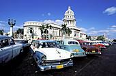 Capitol Building and old cars. Havana. Cuba