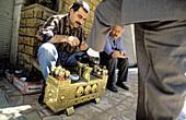 Bootblack. Aleppo. Syria