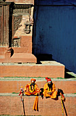 Adult, Adults, Asia, Asian, Asians, Color, Colour, Contemplate, Contemplating, Contemplation, Daytime, Ethnic, Ethnicity, Exterior, Hindu, Hinduism, Human, Male, Man, Meditate, Meditating, Meditation, Men, Men only, Monk, Monks, Nepal, Outdoor, Outdoors,