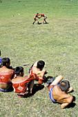 Wrestling school. Naadam preparation. Tov province. Mongolia