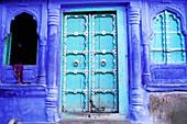 The blue village, Jodhpur. Rajasthan, India