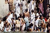 Ablutions in the Ganges River. Varanasi. Utar Pradesh. India