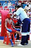 Shiddi boxing tournament. Lyari district, Karachi. Sindh province, Pakistan