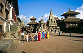 Durbar Square in Bhaktapur. Kathmandu Valley, Nepal
