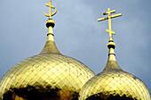 Detail of domes, Chipka church. Bulgaria