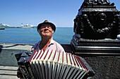 Local musician. Yalta. Ukrainian riviera on the black sea. Crimea. Ukraine