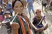 Myanmar (Burma). Chin province. Chin ethnic group in the village