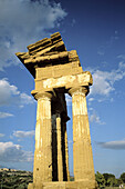 Castor and Pollux Temple. Valley of temples. Agrigento. Sicily. Italy.