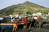 Stromboli island. Eolie Island. Sicily. Italy.
