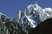 Bublimating (Ladyfinger Peak), Batura Muztagh, Hunza Valley. Northern Areas (aka Gilgit-Baltistan), Pakistan