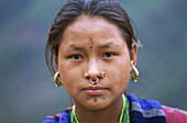 Young girl from Tamang ethnic group. Nuwakot province. Nepal.