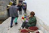 China. Yunnan province. UNESCO World Heritage. Local market.
