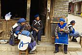 China. Yunnan province. Baisha village around Lijiang. Naxi ethnic group.