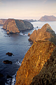 Morning light over Pacific Ocean from Inspiration Point, East Anacapa Island. Channel Islands National Park. California. USA