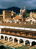 Monastery and Parador Nacional (state-run hotel). Guadalupe. Cáceres province. Spain