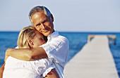 an, Caucasians, Color, Colour, Contemporary, Couple, Couples, Daytime, Dock, Docks, Embrace, Embracin