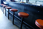 Bar, Bars, Color, Colour, Concept, Concepts, Counter, Counters, Deserted, Detail, Details, Empty, Horizontal, Indoor, Indoors, Interior, Lined up, Lined-up, Lining up, Lining-up, Nobody, Perspective, Seat, Seats, Stool, Stools, Tavern, Taverns, F58-23044