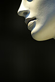 Chin, Chins, Close up, Close-up, Closeup, Color, Colour, Concept, Concepts, Detail, Details, Dummies, Dummy, Feminine, Half, Halves, Indoor, Indoors, Inside, Interior, Mannequin, Mannequins, Vertical, F58-239300, agefotostock