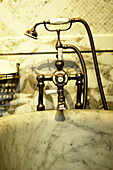 Aged, Antique, Bathroom, Bathrooms, Bathtub, Bathtubs, Color, Colour, Concept, Concepts, Detail, Details, Elegance, Elegant, Faucet, Faucets, Hygiene, Indoor, Indoors, Inside, Interior, Marble, Old, Old fashioned, Old-fashioned, Shower, Showers, Tap, Tap