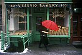 Street scene, Bread shop, Soho, Manhattan, New York, USA.