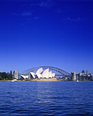Opera house & harbor bridge, Sydney skyline, New south wales, Australia.