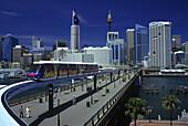 Metro mono-rail, Darling harbour, Sydney, New south wales, Australia.