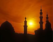 Minarets, Sultan hasan & al-rifai mosques, Cairo, Egypt.