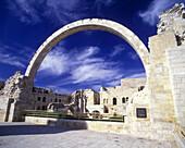 Arch, Hurva synagogue, Old city, Jerusalem, Israel.