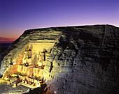 Temple of ramses ii, Abu simbel ruins, Egypt.