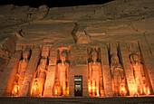 Temple of hathor, Abu simbel ruins, Egypt.