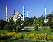 Minarets, Suleymaniye Mosque, Istanbul, Turkey.