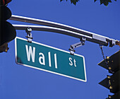 Wall Street sign, North bergen, New Jersey, USA.