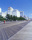 Boardwalk & casino hotels, Atlantic city, New Jersey, USA.