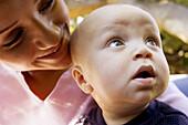 0 to 6 months, 0-6 months, 1 to 6 months, 1-6 months, Adult, Adults, Affection, Babies, Baby, Bond, Bonding, Bonds, Caucasian, Caucasians, Child, Childhood, Children, Color, Colour, Contemporary, Face, Faces, Facial expression, Facial expressions, Famili