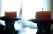 Aged, Ageing, Aging, Candle, Candles, Close up, Close-up, Closeup, Color, Colour, Concept, Concepts, Faith, Horizontal, Indoor, Indoors, Interior, Light, Object, Objects, Old, Pair, Spiritual, Spirituality, Still life, Symbolic, Thing, Things, Two, Two i