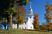 Town Hall in autumn. Strafford. Vermont. USA